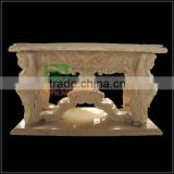 Marble Dining Table with statue carved legs