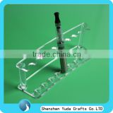 Laser engraved stylish acrylic e-cigarette display, plexiglass e-cigarette counter stand holder