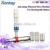 micro needle pen with two replaceable batteries , auto 12 needles anti ageing micro needle ,Auto derma needle cartridge