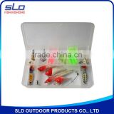 fishing tackle assortment for trout spin lure bait with accessories in plastic box