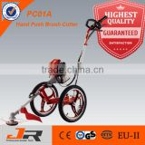 Chinese garden tool GR-PC01A 4-stroke hand push brush cutter/ agricultural equipment with wheels