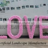 LOVE style artificial flower wall,rose flower wall for wedding