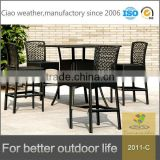 2016 sunshine counter bar furniture-wicker rattan outdoor coffee table and stools with cushion