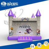 Purple Castle Inflatable House for Children Playing on Sale