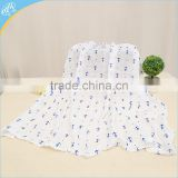 100% Cotton Printed Soft and Confortable Muslin Swaddle Blanket Wholesale