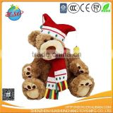 custom plush christmas teddy bear and christmas gift for kids