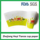Customized Disposable Popcorn Paper Cup Fan With Flexo Printing