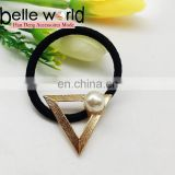 Triangle hollow elastic hair ponytail holder band