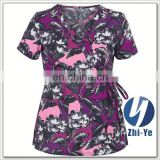 hospital uniform junior fit printed medical uniform hospital