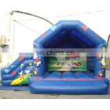 Inflatable sea bouncer Slide or zoo jump Slide with customized artwork colours