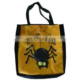 Yellow halloween spider plush candy bag plush toy for children gift