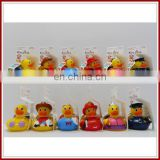 Cartoon duck bathtub thermometer baby bath toys