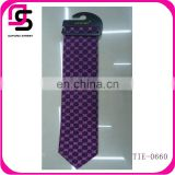 HOT SALE latest design fashion grid cheap silk necktie