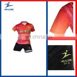 Healong Sport Thermal Transfer Sublimation Sublimation Badminton T-Shirt Team