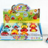 12 pcs funny wind up beetle and fruit toy HC102171