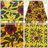 African block printed hollandais wax Rhinestones wax fabric for garment