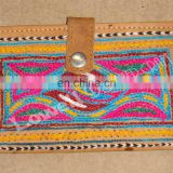rajisthani Embroidered Leather Clutch Bags Women