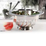 New design stainless steel fruit colander with base