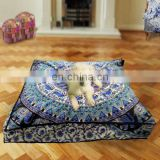 Beautiful Handmade Mandala Design Ottomans Cover Wholesale Footstool Round Pouf covers