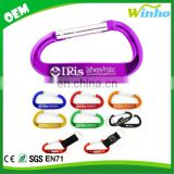 Winho Anodized Carabiner with nylon strap