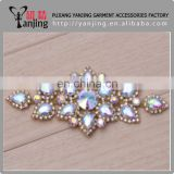 Professional Factory Garment sequin applique,sew on glass beads rhinestone patch