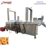Continuous Fish Chicken Frying Equipment French Fries Fryer Churros Fryer Peanut Frying Machine