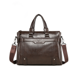 Stylish hand-held stiletto bag horizontal one-shoulder bag business casual PU leather   briefcase
