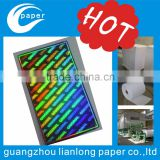 Custom the latest security id holographic stickers /Cheap holographic paper in guangzhou China
