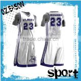 Custom design cheap white basketball jersey basketball team uniforms