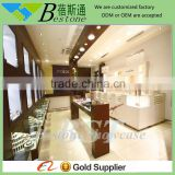 Fashion glass vitrine display cabinet of jewelry store furniture