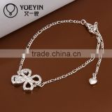 2014 Trendy butterfly pendant crystal barefoot anklet chain with a toe ring