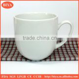 coffee mug wholesale cheap and hot sales High-temperature white porcelain coffee cup ceramic tea mug with handle