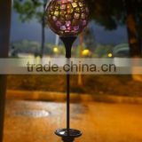 Outdoor decor LED solar powered garden pillar light