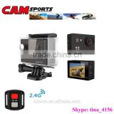 Portable mini full HD 1080p WiFi outdoor waterproof sport camera with remote control bracelet