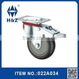 Black steel industrial caster wheel