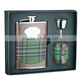 Gift Set of Hip Flask with Shot Glass and Funnel