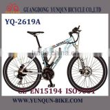 2016 hotselling central motor electric mountain bicycle/bicycle with lithium battery /YQ-M2619A