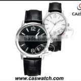 White and black simple dials leather bracelet couple watches