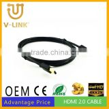 High quality high speed small awm 20276 hdmi cable 1.4 for data transmission