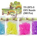 2014 hot selling new designs colorful cheap rubber silicone rubber crazy Diy loom bands sets