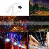 Waterproof Led String Light Meteor Shower Rain Tubes Christmas Lights Outdoor 100-240V 50cm 8 Tubes Holiday New Year Decoration