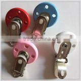 Baby feeding toy baby pacifier/BPA free food grade silicone wooden baby pacifier chain clip