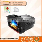 2014 new product multi-function car speed radar detector 3-in-one with car dvr and 1080p anti police radar detector