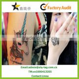2014 New fashion waterproof tattoo sticker, gold tattoo sticker, temporary tattoo sticker