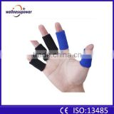 Black Sports Finger Splint Guard Bands Bandage Support Wrap Basketball Volleyball Football Fingerstall