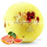 Mendior Grapefruit Orange essential oil Bath Bombs with bath bead Natural Bath Fizzers OEM Brand