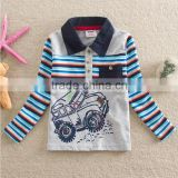 2-6Y (85519#Navy and Gray)OEM Kids clothing spring cotton boys polo shirt children cotton jersey tops