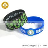 Guangzhou factory wholesale customized printing cool men style/silicone bracelet for kids