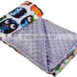 10Pcs MOQ Wholesale Super Soft Security Animal Print Design Kids Love Minky Dot Blanket                                                                         Quality Choice