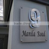 Top quality waterproof rusty resistant led backlit 304 stainless steel 3d apartment house number